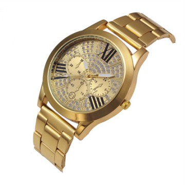 Luxury Women Crystal Stainless Steel Quartz Analog Wrist Watch