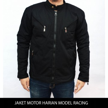 Jaket motor model racing tahan angin anti airbara M-XXL