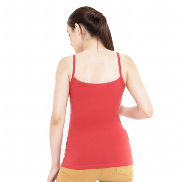 Mobile Power Ladies Small Brocade Tanktop - Red Terracota A6812