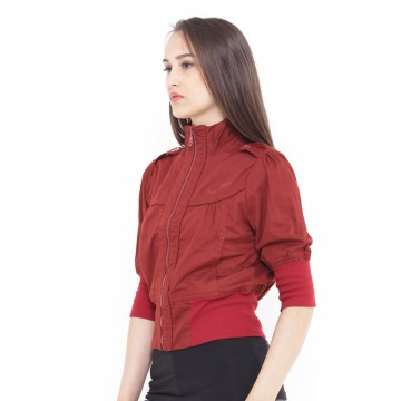 Mobile Power Ladies Bolero Jacket Variation Zipper- Terracota D8346