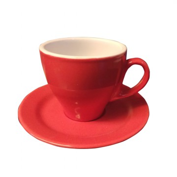 Midas Coffee Cup / Cangkir Cappucino / Mug / Gelas Kopi Tall Red 240mL