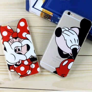 (1 1) Disney Iphone 6 6s/6 6s plus Cute Cartoon Mickey Minnie Daisy Phone Case Cover