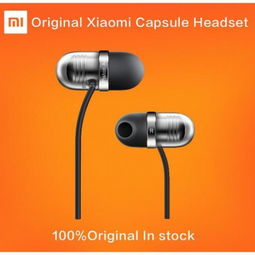 Original Xiaomi One More Design Piston Air Earphone Capsule Silicone Earbuds 45 InEar Angle Hand Mic