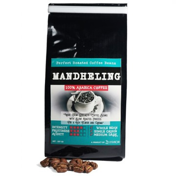 Mandheling Arabica Coffee Whole Bean 200gr - 100% Biji Kopi Arabika - Roast by Sentra Kopi