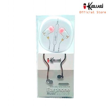 Ikawai Handsfree Earphone music with Mic & Volume - Garansi 1 Tahun - Putih