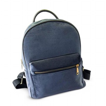 [FREE ONGKIR] Women Gold Velvet Small Rucksack Backpack School Book Shoulder  Bag
