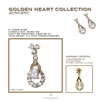 Cocoa Jewelry Anting Shining Crystal-No Box