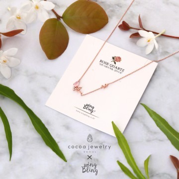 COCOA JEWELRY Rose Necklace / Kalung Rose | Rose Gold