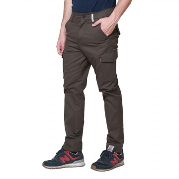 OliveInch - CHINO LONG CARGO PANTS