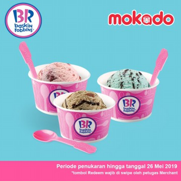 Baskin Robbins 3 Single Scoop Special Price [all flavors]