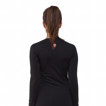 Tiento Base Layer Manset Rashguard Compression Unisex Long Sleeve Black Red Original
