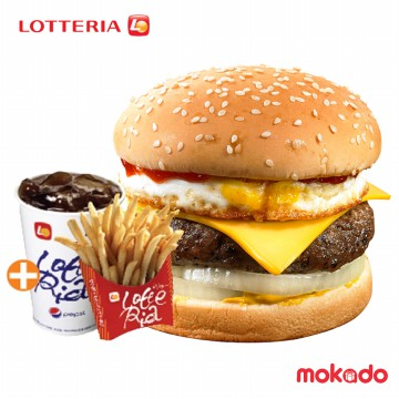 Burger Set / Cheese and Egg Burger Set / LOTTERIA♥