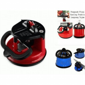 [1 1] Asah / Pengasah Pisau, Gunting, Cuter Cutter with suction pad knife sharpener