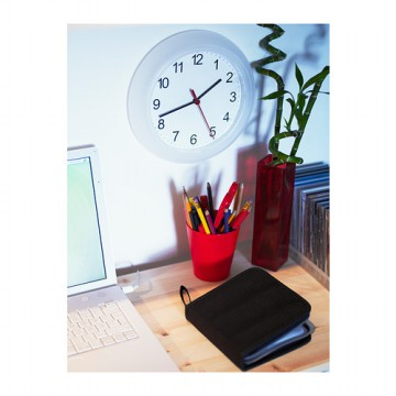 IKEA (R) - RUSCH Jam Dinding Putih (O=25cm) FREESTYLE CREATIVITY CLOCK IDEAS Plastik Ringan CRAFT