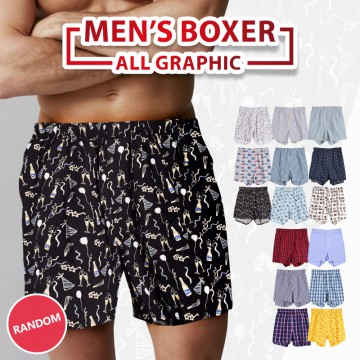 New Collection ! GET 4 PCS - Branded Mens Boxer - Good Quality - Celana Pendek Pria - Celana Boxer