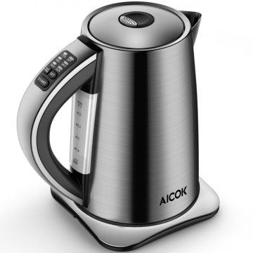 AICOK Stainless Steel Tea Kettle with Variable Temp, Cordless Electric