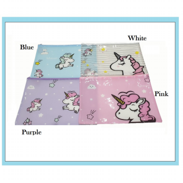 PF08 Transparan Unicorn and Flamingo A4 Stationery File Storage pouch