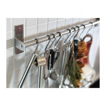 IKEA GRUNDTAL 5 Pcs S-Hook 7 cm, Pengait S isi 5 pcs, Stainless Steel
