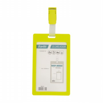 Bantex ID Card Holder With Clip 54x90mm Portarit