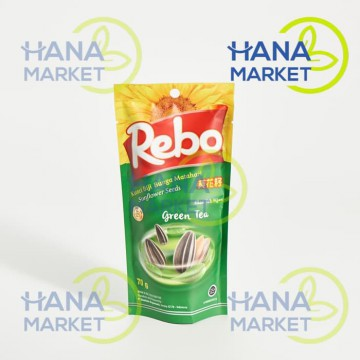 (POP UP AIA) Rebo Kuaci Biji Bunga Matahari Rasa Green Tea 70g