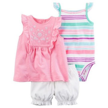 Romper Baby Set Carter's 3 in 1 Pomelo