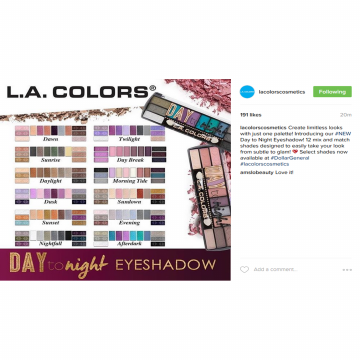 LA Colors Day To Night Eyeshadow