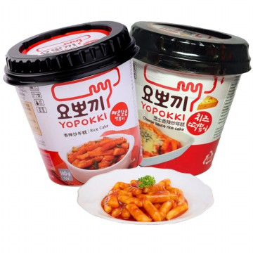 Yoppoki Cup Cheese / Hot & Spicy Rice Cake - 140gr