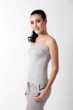 ACCENT Tanktop with Lace Detail