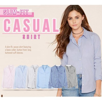 Women Shirt Branded - SLIM FIT CASUAL 6 WARNA