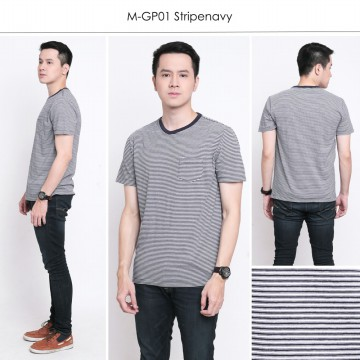 Men Tshirt Casual Tees-Kaos Pria Stripetees-Plain tees-Best Seller Man Tees Tshirt