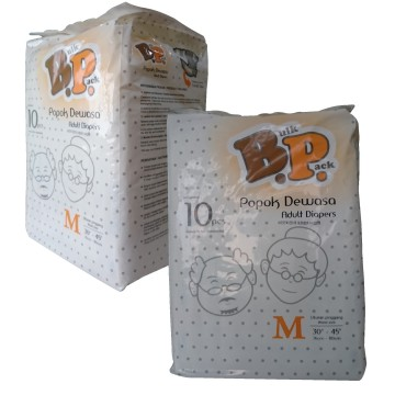 DIAPERS / POPOK DEWASA UK: M, ISI: 10 PCS