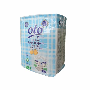 Diapers / Popok Dewasa OTO Uk: L, Isi: 8 Pcs / OT-8L