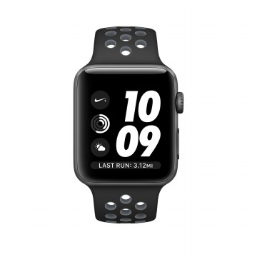 Apple Watch Series 2 Nike 42mm Gray Aluminum Case Black Cool Gray Nike SportBand-Garansi Resmi Apple