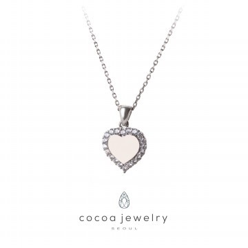 [New Arrival] Cocoa Jewelry Light Up The Love Necklace Silver Color-No Box