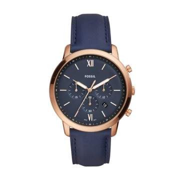 FOSSIL NEUTRA CHRONOGRAPH NAVY LEATHER WATCH FS5454
