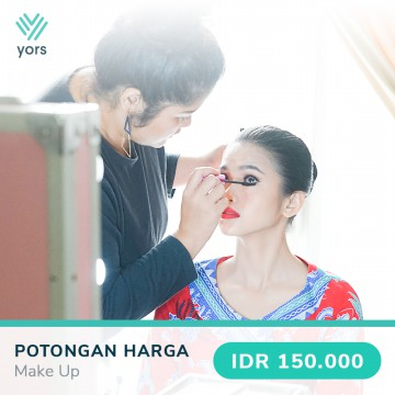 MAKE UP Voucher 150.000 di Aplikasi YORS