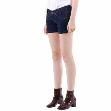 Mobile Power Ladies Basic Jeans Short Pants - Denim I5559