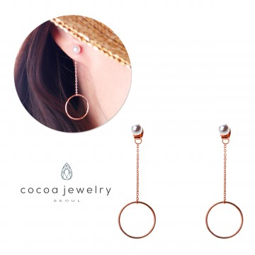 Cocoa Jewelry Anting Shining Circle Rose Gold- No Box