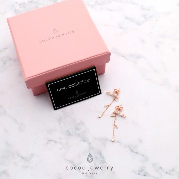 Cocoa Jewelry Anting Winter In Love Rose Gold
