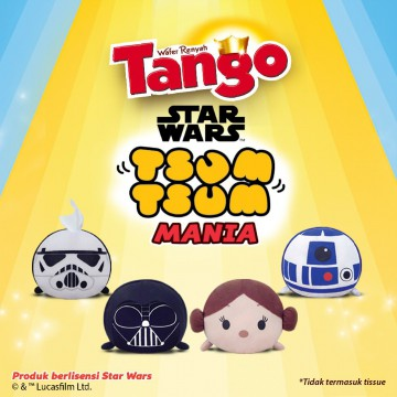 6 pcs Tango Wafer Chocolate-Vanilla 176 GR get 1 free Tissue Cover Tsum-Tsum Star Wars Character