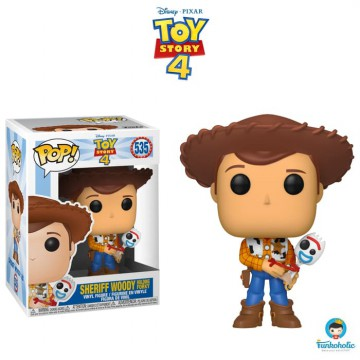 Funko POP! Disney Toy Story 4 - Sheriff Woody Holding Forky EXCLUSIVE