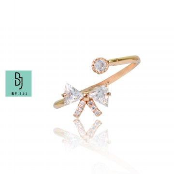 BE.JUU Cincin Ribbon Korean Jewelry
