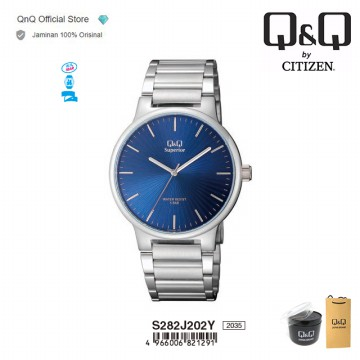 Q&Q QnQ QQ Original Jam Tangan Pria Analog Formal - S282 S282J Water Resist