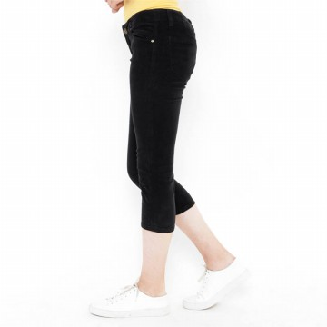 Mobile Power Ladies 7/8 Corduroy Pants - Black K5730
