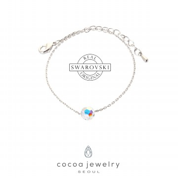 Korea Cocoa Jewelry Circle Cute - Gelang Swarovski