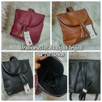 TAS STRADIVARIUS TASSEL BACKPACK ORIGINAL