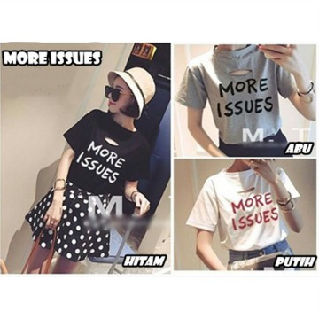 PAKET 6 PCS – KAOS BC- More Issues  Bahan cotton spandek fit to L blc00082G