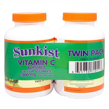 (POP UP AIA) SUNKIST Vitamin C Buffered 1000 Mg 60 Caps Bogo