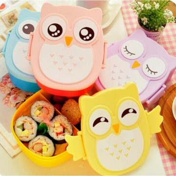Cute Fancy Owl Bento Lunch Box Food Container Kotak Bekal Makan Bento Food Grade BPA Free