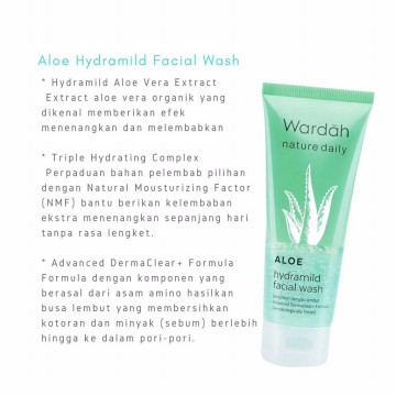Wardah Nature Daily Aloe Hydramild Facial Wash 60 ml / SKC0119003